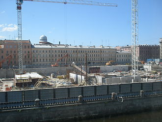 Mariinsky Theatre Second Stage - Construction progress as of June 2009