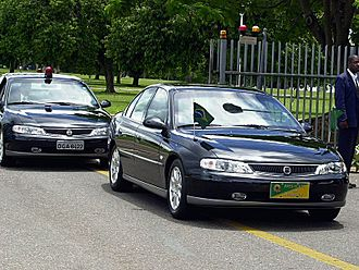 Chevrolet Omega - Chevrolet Omega B (VX) in a Brazilian presidential convoy