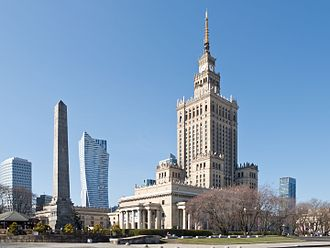 Palace of Culture and Science - South view of the Palace