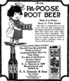 Pa-Poose Root Beer ad 1921.png