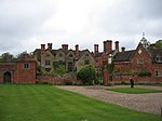 Packwood House and outbuildings to north east