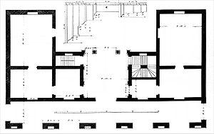 Palazzo Civena - Palazzo Civena, floor plan (Ottavio Bertotti Scamozzi, 1776)