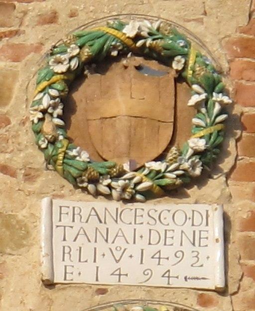 Palazzo Vicariale di Certaldo, facciata, stemma Nerli