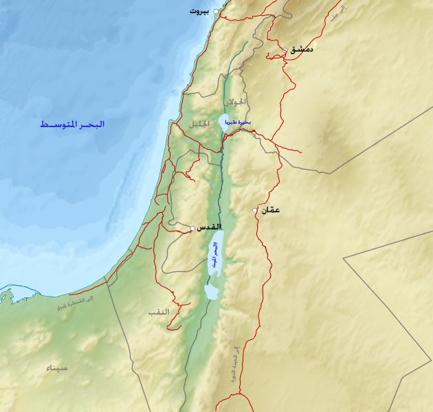 Palestine base map-ar