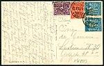Pallas-Verlag Jena, Luftbildkarte Nr. 11, Ballonaufnahme der Rudelsburg, Adressseite Inflation 1923 Berlin Goltzstraße 48.jpg