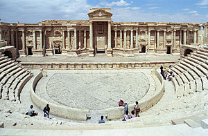 Roman Theatre at Palmyra - Overview of the theatre in 2007