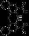 Pamoic acid skeletal C2v.png