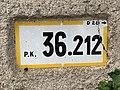 Panonceau PK 36,212 Route D28 Route Bâgé Crottet 3.jpg