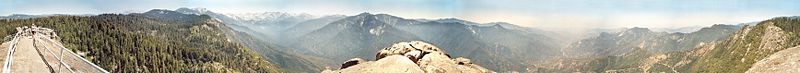 File:Panorama 360 view from Moro Rock - Giant Sequoia National Park - California USA (2002).jpg