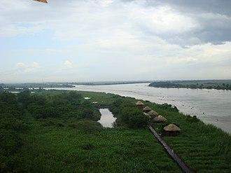 """Usumacinta River - In """"Tres Brazos"""" the Usumacinta joins to San Pedrito river and Grijalva river, in the Wetlands of Centla, biosphere reserve, in Tabasco."""