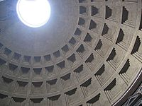 Daylighting features such as this oculus at the top of the Pantheon in Rome have been in use since antiquity.
