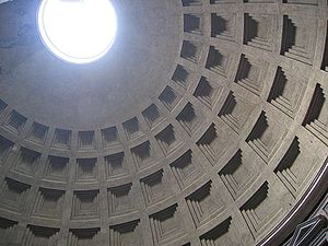 Coffer - Coffering on the ceiling of the Pantheon, Rome