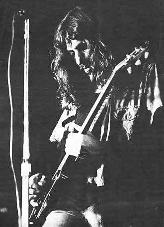 Argentine rock - Electric guitarist Pappo, frontman of Pappo's Blues, performing in 1973.