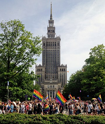 Parada Równości, Warsaw in 2018, the Court of Justice declared same-sex spouses have EU residence rights.[145]