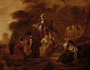 Guilliam du Gardijn - Finding Moses, whereabouts unknown