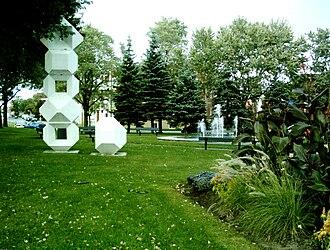 Montréal-Nord - Pierre Granche's sculpture in park in Montréal-Nord.