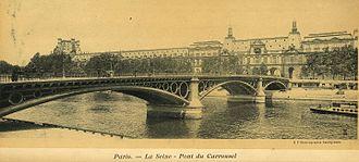 Pont du Carrousel - La Seine Pont du Carrousel
