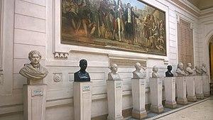Armand Trousseau - Busts at the Académie Nationale de Médecine, with Trousseau fifth from the left