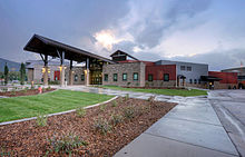 Park City High School, photographed from Kearns Blvd., Park City, UT, USA..jpg