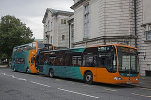 Cardiff Bus - A Mercedes-Benz Citaro and an Alexander Dennis Enviro400 in Cathays