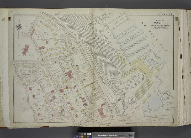 File:Part of Ward 1. (Map bound by Richmond Terrace (Bay St), Pierhead Line, Hyatt St, St. Marks PL (Tompkins Ave), Fort PL, Daniel Low Terrace, Hamilton Ave, Nicholas St) NYPL1646318.tiff