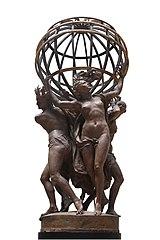 Les quatre parties du monde soutenant la sphère by Jean-Baptiste Carpeaux-RF 817