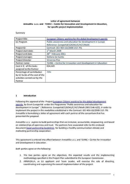 File Partnership Agreement Letter Pdf