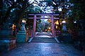 Pathway leading to Kasuga-taisha seen at night. Nara, Nara Prefecture, Kansai Region, Japan.jpg