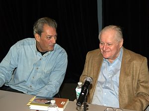 Paul Auster - Auster with John Ashbery at the Brooklyn Book Festival