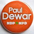 Paul Dewar NDP NPD button.jpg