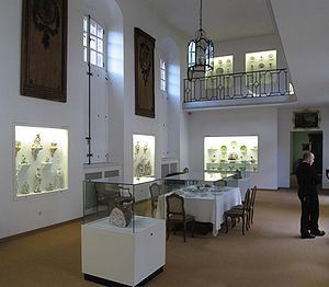 Musée des Arts décoratifs, Strasbourg - An exhibition room in the museum in the Palais Rohan