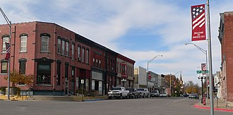 Pawnee City, Nebraska - West side of G Street, looking NW from 6th St, 2010