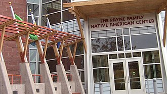 Campus of the University of Montana - Entrance to the Payne Family Native American Center