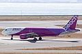 Peach Aviation ,MM103 ,Airbus A320-214 ,JA808P ,Departed to Sapporo ,Kansai Airport (16667206182).jpg