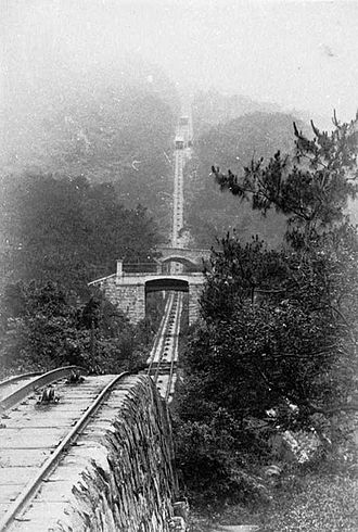 Peak Tram - Uphill tram route 1897