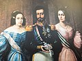 Pedro I with his second wife and eldest daughter.jpg