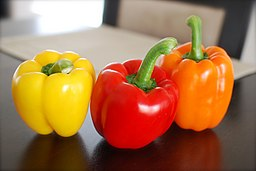 Bell Peppers are known as capsicum in some countries