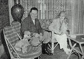 San Vicente, Buenos Aires - Arguably the town's best-known residents, Evita and Juan Perón relax in their San Vicente ranch in 1950