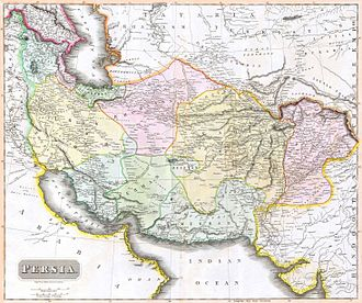 Greater Iran - An 1814 map of Persia at time of Qajar dynasty