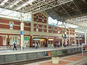 Perth railway station - View from Platform 6 in October 2007