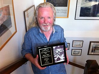 "Barry Award (for crime novels) - Peter May with the 2013 Barry Award for Best Novel, for his book, ""The Blackhouse""."