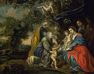 Holy Family under an Apple Tree
