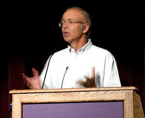 Peter Singer lecturing at Washington Universit...