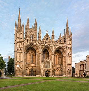 Peterborough Cathedral Church in Cambridgeshire, United Kingdom