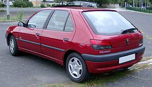 Peugeot 306 - Phase 2 Peugeot 306 rear
