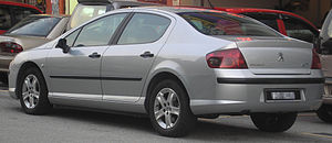 Peugeot 407 - Image: Peugeot 407 (first generation) (rear), Serdang