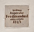 Pfarrkirche Marbach an der Donau - plaque Ferdinand I.jpg