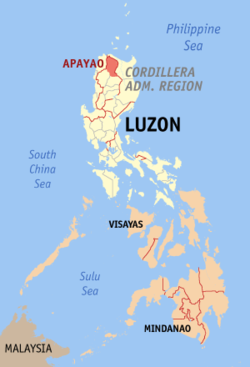 Map of the Philippines with Apayao highlighted