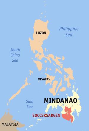 Philippine House of Representatives elections, 2010 (Soccsksargen) - Image: Ph locator region 12