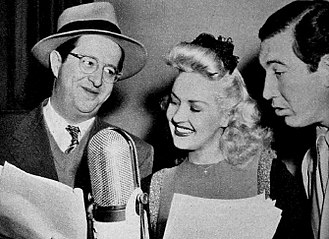 Rags Ragland - Phil Silvers, Betty Grable and Ragland on the Armed Forces Radio program Mail Call (1943)